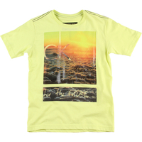 c7602c26ae0d8 Camiseta Calvin Klein Jeans Estampa Frontal Infantil Masculina Amarela