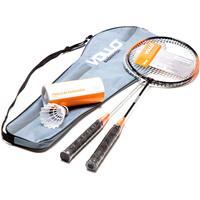 Kit Badminton Vollo com 2 Raquetes e 3 Petecas de Nylon Xd016