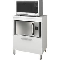 Armário de Cozinha Movelbento BCM146 1 Porta Branco