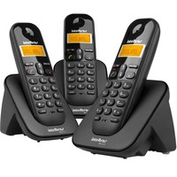 Telefone sem Fio Intelbras TS 3113 Preto + 2 Ramais
