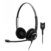 Headset Profissional Sennheiser com 2 Conchas e Microfone Inteligente Preto