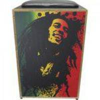 Cajon Eletroacustico Inclinado Profissional K2 Cor-002 Eq Bob Marley Jaguar