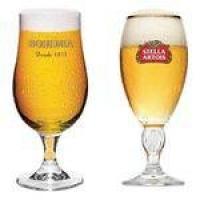 Kit Com 1 Taça Stella Artois + 1 Taça Bohemia Pilsen