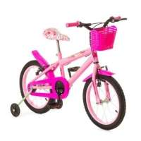 Bicicleta Infantil Rharu Tech Aro 16 Rosa