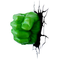 Luminária de Parede 3D Light FX Pulso Hulk Verde