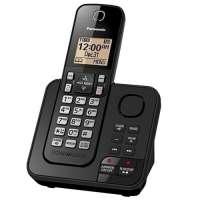 Telefone Sem Fio Panasonic KX-TGC360LAB Secretaria Eletronica Identificador de Chamadas Preto