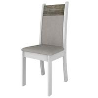 Kit de Cadeiras Madesa Milano Branco BP Savana 2 Peças
