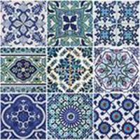 Adesivo de Parede Decorativo para Cozinha Stixx Azulejos Portugueses Colorido (123x61cm)