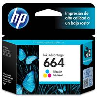 Cartucho de Tinta HP Ink Advantage 664 Tricolor F6V28AB