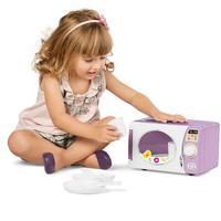 Microondas De Brinquedo Calesita 346 11 Acessórios Roxo