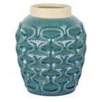 vaso decorativo  Azul Turquesa diâm;  21 cm   / cerâmica    /  Ilunato  UE0064