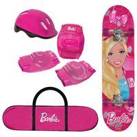 Skate Barbie Monte Líbano Rosa + kit de Segurança