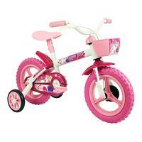 Bicicleta Infantil Feminina Aro 12 Arco Iris Branco E Rosa Track Bikes