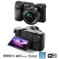 Câmera Digital Sony Alpha ILCE 6000L 24.3MP Lente 16-50mm f.:3.5-5.6 Preta