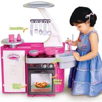 Cozinha Infantil Cotiplás Classic Com Fogão Pia Armário 1601 Rosa