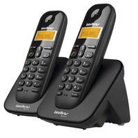 Telefone sem Fio Intelbras TS 3112 Preto DECT 6.0 + 1 Ramal