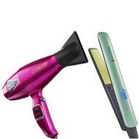 Secador 3Q Conair + Prancha Shine Therapy 2x Remington