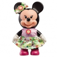 Mini Boneca Minnie Fashion Saia Verde Com Flores 6155 Multibrink