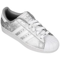 Tênis Adidas Star 2 W Feminino Prata e Branco  e0200ed5ecb23