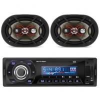 MP3 Player Talk Multilaser P3214 1 Din USB Bluetooth + Par Alto Falantes Triaxial 140W RMS