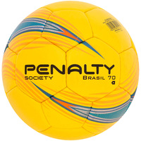Bola de Futebol Society Penalty Brasil 70 com Costura Amarelo Azul e Laranja