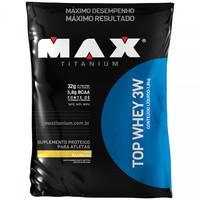 Suplemento Max Titanium Top Whey 3W Refil Baunilha 1.8kg