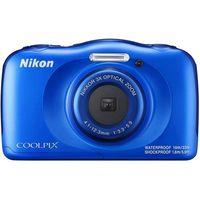 Câmera W-100 Wi Fi 13.2mp Lente Ninikkor Lcd 2.7 - Azul Nikon