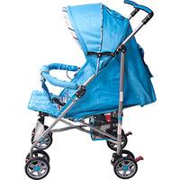 Carrinho de Bebê Passeio Prime Baby Umbrella Premium Azul Listrado