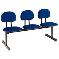 Cadeira para Escritório com 3 Lugares 909-Unimóvel - Azul / Preto