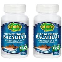Kit 2 x Óleo de Fígado de Bacalhau 350mg 60 cápsulas Unilife