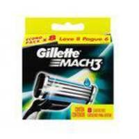 Carga para Aparelho de Barbear Gillette Mach3 - 8 Cartuchos