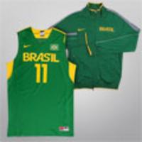 Kit Nike Brasil - Camiseta Regata Jogador Seleção Brasil Basquete + Jaqueta  London Pf N98 Brasil 34e58f95059f1