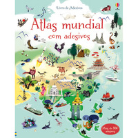 Atlas Mundial Com Adesivos