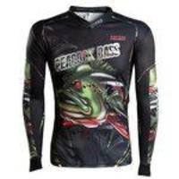 Camisa de Pesca Brk River Monster Peacock Bass - Tamanho P