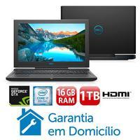 "Notebook Gamer Dell G7-7588-A30P i7-8750H 16GB 1TB 256GB 2.2GHz GTX 1050Ti Full HD 15.6"" Windows 10"