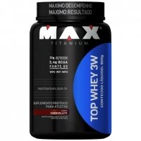 Suplemento Max Titanium Top Whey 3W Chocolate 900g