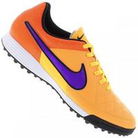 Chuteira Society Nike Tiempo Genio Leather TF Masculina Laranja Claro e  Laranja a6cb3f81d4690