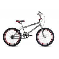 Bicicleta Stone Bike Cromo Cross Aro 20 Aero Vermelha e Prata