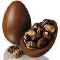 Ovo De Páscoa Grande 3 Kg Chocolate Fino Tipo Belga Com Bombons