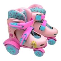 Patins Roller Ajustavel Belinda Rosa do 27-30 - DmToys 5874