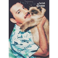 Notebook: Freddie Mercury Medium College Ruled Notebook 129 pages Lined 7 x 10 in (17.78 x 25.4 cm)