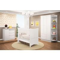 Quarto De Bebê Completo Doce Magia 4 Peças Branco