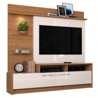 Estante Home Theater Para TV até 60 Pol. Ipanema Natura/Off White - Colibri
