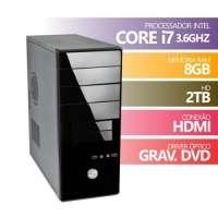 Computador Premium Business Intel Core I7 3.6ghz 8GB 2TB HDMI DVD Linux
