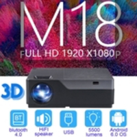 EUA AUN Full HD 1080P Projetor Android OS LED Suporte 3D Home Theater Projector