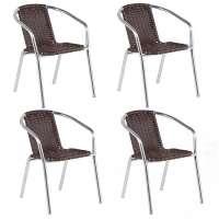 Cadeira Alegro 99 4 Alumínio 4 Unidades Tabaco