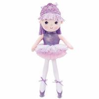 Boneca de Pano Princesa Bailarina Moas Roxa