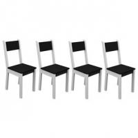 Kit com 2 Cadeiras Madesa Rubia Maxi Branco e Preto