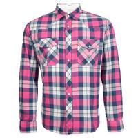 Camisa Reserva Masculina Western Xadrez Rosa e Branco  30391a0335e4c