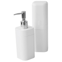 Conjunto para Banheiro Coza Splash 99182/7007 Branco 2 Peças